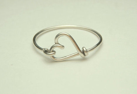 Cute small heart ring made on sterling silver wire, gauge 20- keoops8- by Dereck Maltez custom size | Sterling silver wire rings | Scoop.it