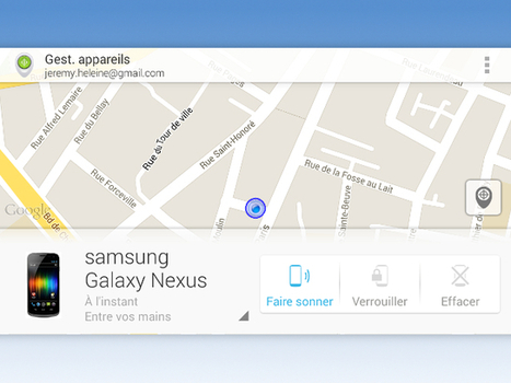 Google lance une application mobile pour Android Device Manager | INFORMATIQUE 2014 | Scoop.it