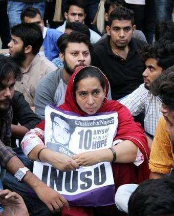 JNU to have sombre Diwali with sit-in, prayers for Najeeb - Times of India | History | Scoop.it