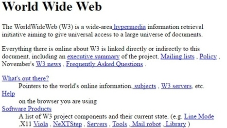 Check out the world's 1st web page, from 25 years ago, on Internaut Day | Into the Driver's Seat | Scoop.it
