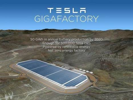 Tesla's $5bn Gigafactory looks even cooler than expected, will create 22,000 jobs | Energy&Environment | Scoop.it
