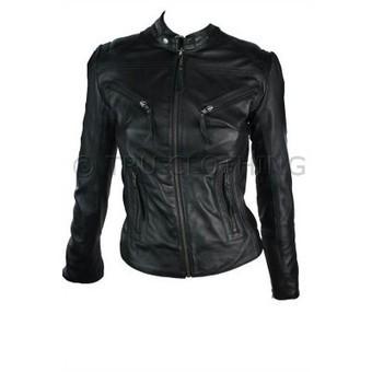 100% Ladies Real Leather Jacket Fitted Bikers Style Vintage Black Rock | Womens Clothing | Scoop.it
