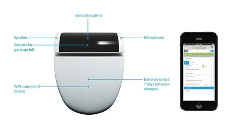 GeniCan rend votre poubelle intelligente - Le Blog Domotique | Ressources pour la Technologie au College | Scoop.it