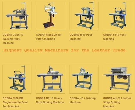 Industrial Leather Sewing Machines: A Way to Grow in Leather Trade! | Leather Sewing Machine | Scoop.it