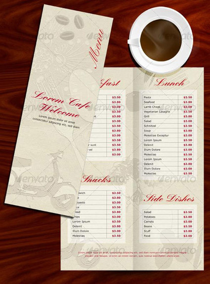 25 High Quality Restaurant Menu Design Templates | Graphic & Web Design Inspiration + Resources | Template & Webdesign | Scoop.it