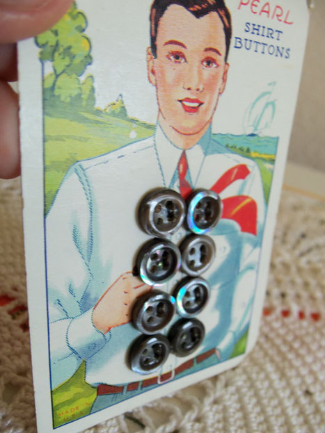 Vintage Mother of Pearl Shirt Buttons | Antiques & Vintage Collectibles | Scoop.it