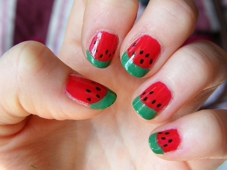5 Amazing Watermelon Nails | Fashion and Beauty | Scoop.it