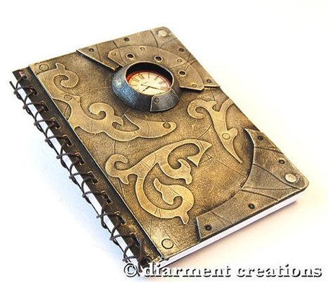 Steampunk Notebook  Old Gold | Steampunkerie | Scoop.it