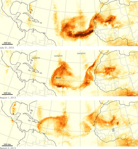 Tracking Dust Across the Atlantic : Image of the Day | Exploration | Scoop.it