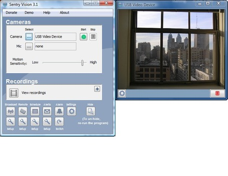 Sentry Vision Security 3.1 - webcam security and surveillance program | formation 2.0 | Scoop.it
