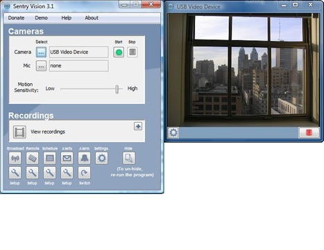 Sentry Vision Security 3.1 - webcam security and surveillance program | Time to Learn | Scoop.it