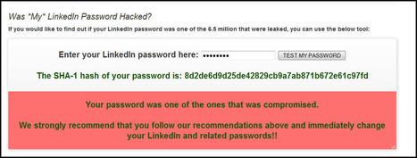 Has My LinkedIn Password been Hacked? ps – my password was stolen… | Online Marketing Resources | Scoop.it