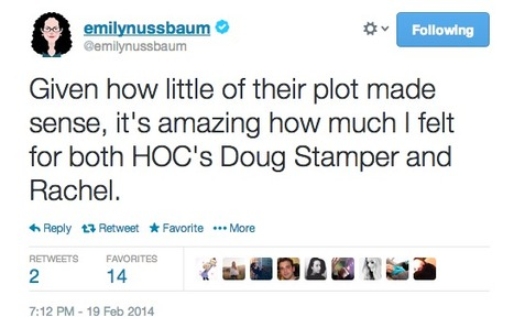Sample tweet from Emily Nussbaum | Review & Criticism on Social Media | Scoop.it