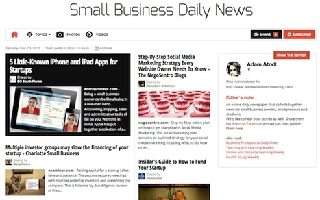Nov 3 - Small Business Daily News is out | Business Futures | Scoop.it