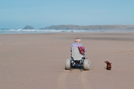 Finally some Independence: Hiring a motorised beach wheelchair (Perranporth Beach)   Accessible Tourism   Scoop.it