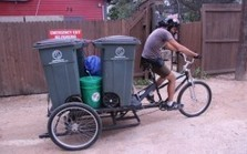 """Austin Business Diverts Food Scraps to Organic Gardens by Bicycle (""""shades of bgy sun valley model"""") 