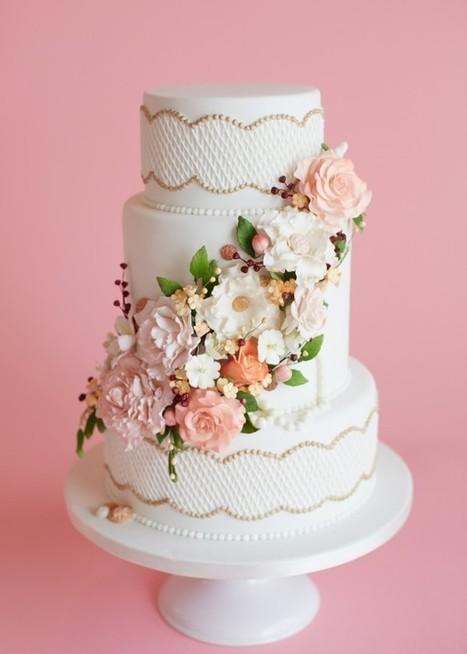 Elegant Floral Wedding Cake | Weddingbells.ca | wedding | Scoop.it