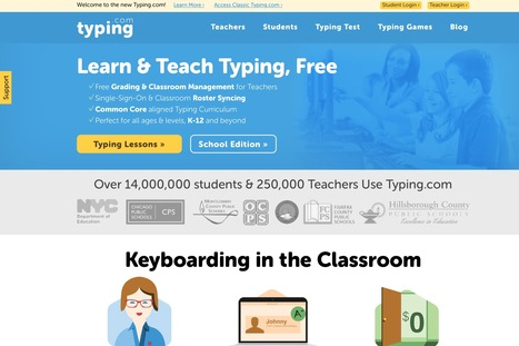 A Good Chart Featuring Some of The Best Resources and Tools for Teaching Kids Typing ~ Educational Technology and Mobile Learning | Technology Resources for K-12 Education | Scoop.it