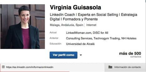 Aprende a personalizar tu URL en LinkedIn - Virginia Guisasola | Virginia Guisasola | LinkedIn & Marca Personal | Scoop.it