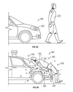 Google patents 'sticky' layer to protect pedestrians in self-driving car accidents | #Automotive #Applications | Scoop.it