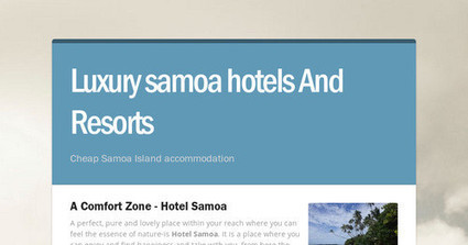 Luxury samoa hotels And Resorts | Virgin Cove | Scoop.it
