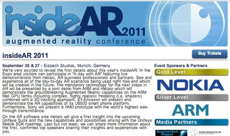 Augmented Reality World -拡張現実- insideAR 2011 augmented reality conference #metaio #AR | Augmented Reality News and Trends | Scoop.it