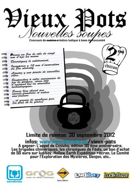 Vieux Pots : J-20 pour remettre vos propositions | Jeux de Rôle | Scoop.it