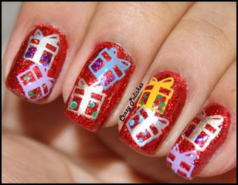 Crazy Polishes: Winter Holiday Challenge: | Indian Nail Art | Scoop.it