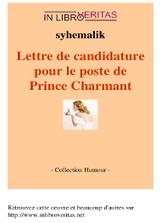 Lettre de candidature pour le poste de prince charmant | Audiolivres-Audiobooks | Scoop.it