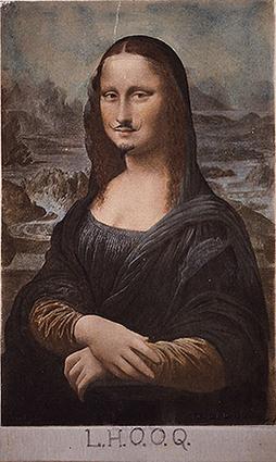 L.H.O.O.Q. - Marcel Duchamp - Mona Lisa - 1919 - Moustache | Ateliers créativité (AFB) | Scoop.it