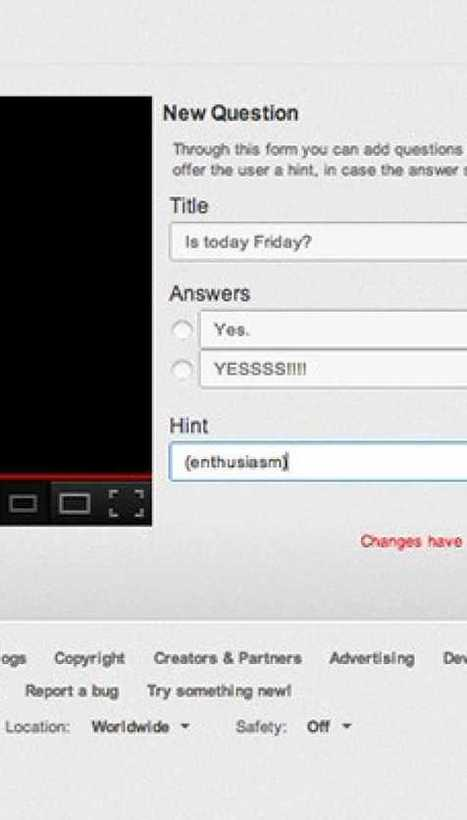 YouTube brings interactive quizzes to videos with Questions Editor beta - Engadget | Screen flashes. | Scoop.it