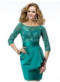 $ 123.99  Glamorous Short/Mini Lace Scoop Neckline Mother Dress | Fashion ladies | Scoop.it