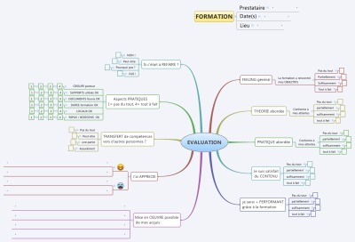 Une mindmap pour l'évaluation de vos formations | Revolution in Education | Scoop.it