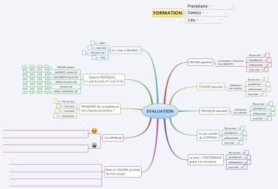 Une mindmap pour l'évaluation de vosformations | François MAGNAN  Formateur Consultant | Scoop.it