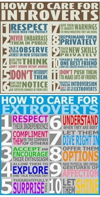How to Care for Introverts & Extroverts [Infographic] | Life @ Work | Scoop.it