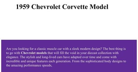 Add Chevrolet Corvette Model To Your Diecast Collection | Motorfocus Diecast Models | Scoop.it