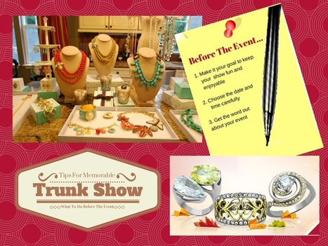 Tips for a Memorable Trunk Show: What to do before the event | Jewelry Display and Organizer | Scoop.it