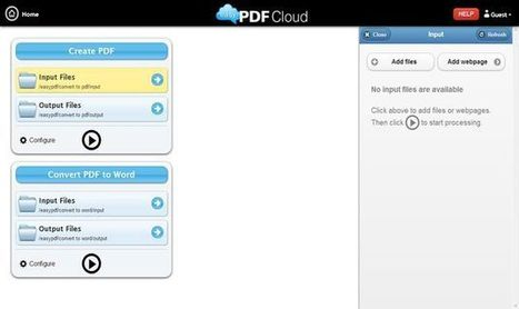 EasyPDFCloud, convierte documentos a PDF y PDF a Word o imágenes | E-Learning, M-Learning | Scoop.it