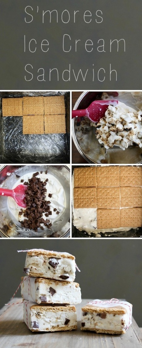 S'mores Ice Cream Sandwiches | Candy Buffet Weddings, Events, Food Station Buffets and Tea Parties | Scoop.it