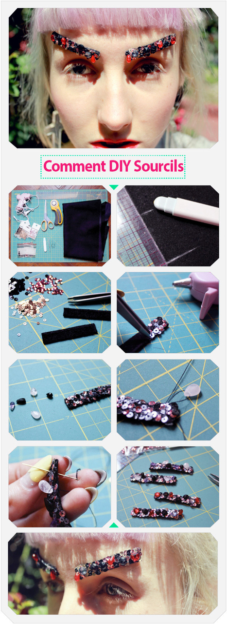 Comment DIY Sourcils Bejeweled Chanel   Maquillage   Scoop.it