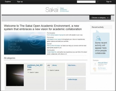 E-portfolios, Sakai, and 'new paradigms' | Studying Teaching and Learning | Scoop.it