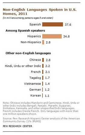Spanish is the most spoken non-English language in U.S. homes, even among non-Hispanics | EL ESPAÑOL DE AMERICA | Scoop.it