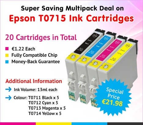 Grab Super Saving 20 Pack Deal on Compatible Epson T0715 Ink Cartridges at Just €21.98 | Find the Best Value Ink and Toner Cartridges with Multipack Deals in Ireland | Scoop.it