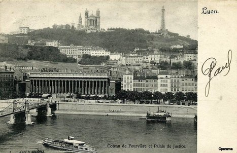 Lyon - Coteau de Fourvière - Cartes Postales CPArama | Secrets lyonnais | Scoop.it