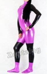 Black And Pink Shiny Metallic Catsuit Zentai [C20037] - $46.00 : Shop Zentai Suits Full Bodysuits And Catsuits From Zentaing.com | zentai catsuit lycra | Scoop.it