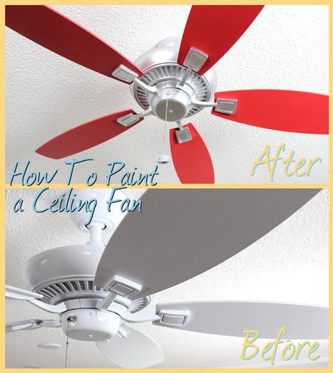 How to Paint a Ceiling Fan | Ceiling Fans | Scoop.it