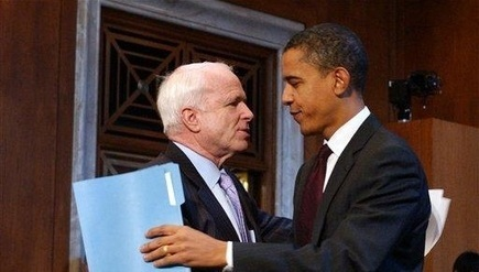 McCain-Obama Alliance Exposes The Partisan Charade [mc cain sellsout to marxist overlord] | News You Can Use - NO PINKSLIME | Scoop.it