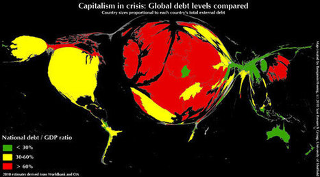 Map Of The Day: Awesome Visualization Of Global Debt Levels | e-Xploration | Scoop.it