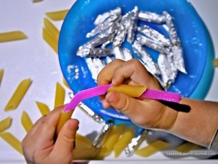 Craft: Tin Foil Pasta | Lessons Learnt Journal | Trabalhos Manuais no Jardim de Infância | Scoop.it