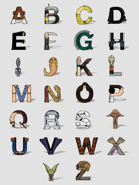 The Star Wars Alphabet | Curation, Gamification, Augmented Reality, connect.me, Singularity, 3D Printer, Technology, Apple, Microsoft, Science, wii, ps3, xbox | Scoop.it